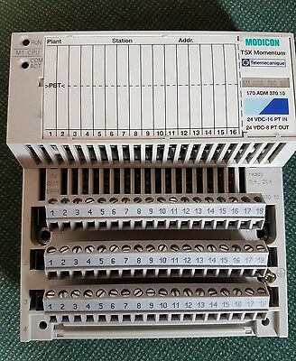 MODICON TSX Momentum 170ADM 370 10 with 16 INPUTS 8 OUTPUTS 24VDC