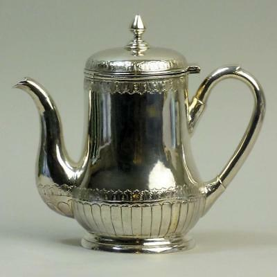 Fine Chinese Antique Silver Coffee Pot Hung Chong Of Canton C.1880 482 Grams
