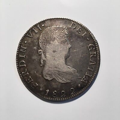 Mexico (KM# 111.4), 1822 GoJM 8 Reales, War of Independence --VERY RARE--