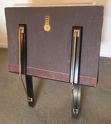 Victorian Wood & Brass Bunyard Self Supporting Art Folio Display Stand