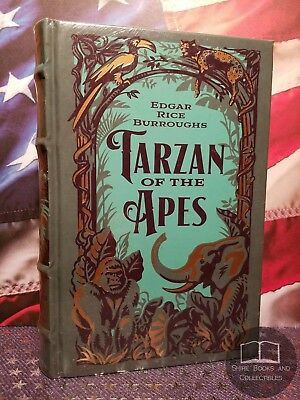 NEW SEALED Tarzan of the Apes 1st 3 Novels Edgar Rice Burroughs Bonded Leather