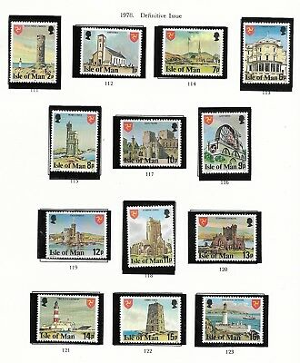 Collection Of Isle Of Man Mint Stamps (12)