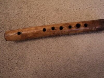 Rare, Early Twentieth Century, Bamboo Tribal, Native Flute, Collected In Vietnam