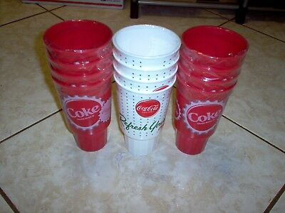12 brand new coca cola cups (authentic product)