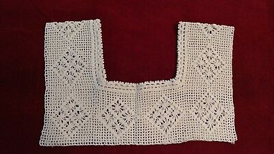 Antique_Edwardian_1920_Hand_Filet_Crocheted_Yoke_Collar_