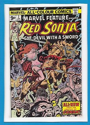 "Marvel Feature #2_January 1976_Vf Minus_Red Sonja_""blood Of The Hunter""_Uk!"