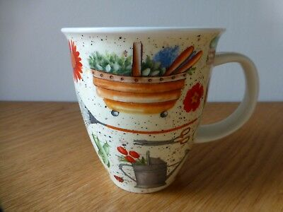 """One Dunoon Fine Stoneware Mug """"greenfingers"""" By Jane Fern Made In England"""