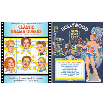 NEW (Set) Classic Drama Queens And Hollywood Goes To New York Paper Dolls Sets