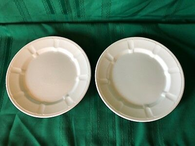 "2 Antique Walled Octagon Pattern 9-3/4"" Ironstone Plates by Furnival"