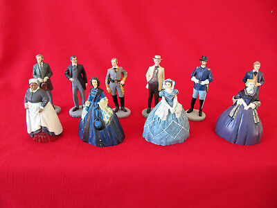 Franklin Mint Gone With The Wind Figurine Set Of 10~Lot