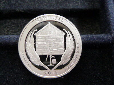 """2015-S American The Beautiful """"silver"""" Quarter Homestead Nat'l Monument  D-20-18"""