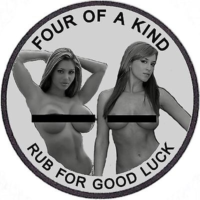 Lot Of (2) Four Of A Kind..rub For Good Luck..1 Oz. Adult Nude Silver .999 Coins