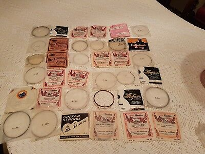 Job Lot of 36 Guitar Strings ;Many sizes , mainly  for classical guitar