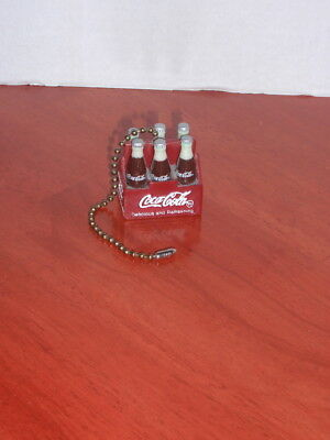 Coca-Cola Miniaturei 6 Pack Of Bottles In A Metal Carton - Lamp Chain Pull
