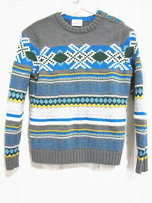 Hanna Andersson Sweater Size 140 Lknu Pullover Cozy Up Nordic Winter Boys