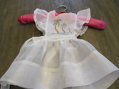 Vintage Sheer Girl Pinafore Apron Dress Lace Trim FITS PATTY PLAY PAL IDEAL DOLL