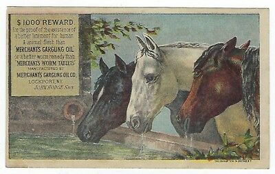 Merchant's Gargling Oil late 1800's medicine trade card variation #A