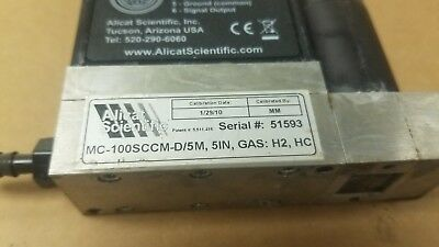 Alicat Scientific Mass Flow Controllers MCP-100SLPM-D/5M 52P 5IN GAS Air