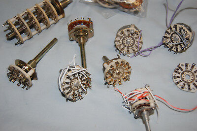 Rotary Ceramic Switchs High Voltage various lot parts