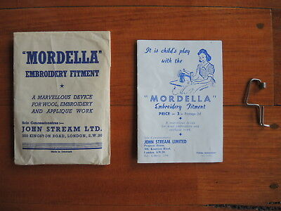 Mordella Embroidery Fitment original packaging & instructions sewing RARE