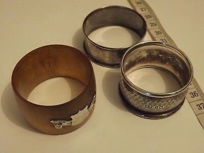 3  x Solid Silver Napkin Rings Hallmarked