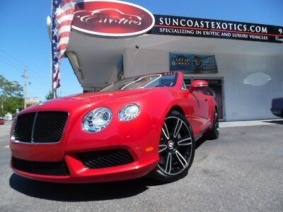 Continental Flying Spur GTC Mulliner 2013 Bentley Continental GTC Mulliner Dragon Red Metallic Convertible  Auto