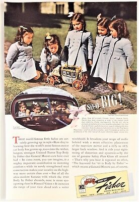 Various General Motors Body by Fisher Ads UNISTEEL Dionne Quintuplets Canada
