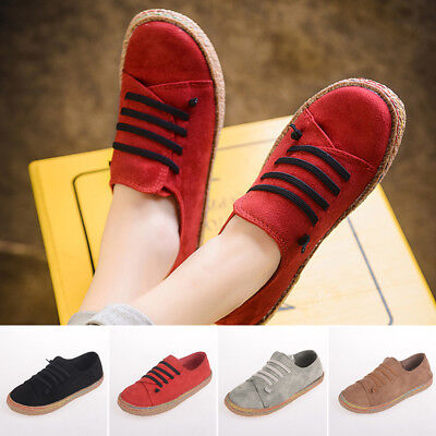 6bf7706235d WOMEN SLIP ON Soft Loafers Lazy Casual Flat Shoes Outdoor Moccasins Retro  Suede -  3.86