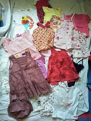 Lot vêtement bébé fille 18 mois sergent major robe t shirt jupe 16 pieces
