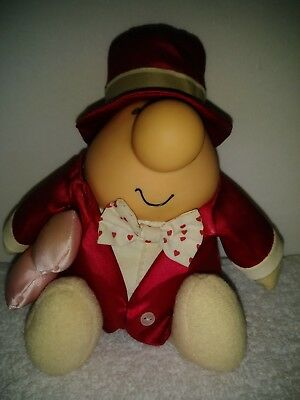 Ziggy Vintage Plush Toy Red 7 in Tuxedo Tom Wilson Valentines Day Collectible