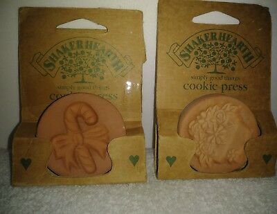 Wilton Shaker Hearth Cookie Press Lot of 2 Candy Cane Flower Basket 1996 Rowoco