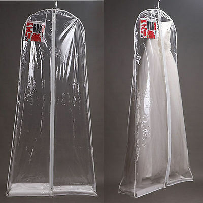 Large Transparent Bridal Gown Wedding Dress Dustproof Storage Bag Garment Cover
