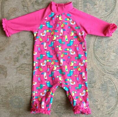 Boots 9 12 Months Girls Upf 40 All In One Uv Sunsuit Swimming