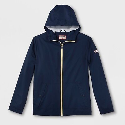 NWT Hunter For Target Adult UNISEX Rain Coat Navy Packable Jacket - LARGE