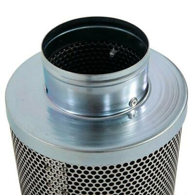 "New 4"" Inline Scrubber Odor Control Hydroponic Steel Air Carbon Charcoal Filter"