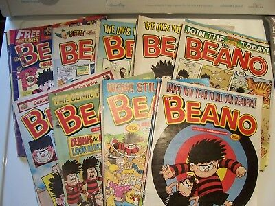 32 Beano Comics Mixture of Months from 2007 Excellent Condition