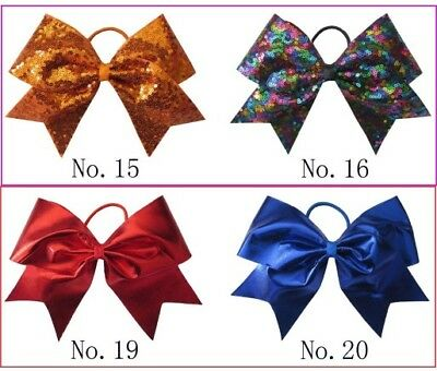 50 BLESSING Good Girl 4.5 Inch Spangle Cheer Leader Bow Elastic Flash Wholesale