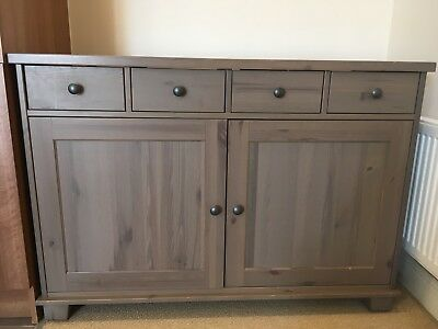 Solid Wood Sideboard With 3 Large Drawers And 2 Cupboards