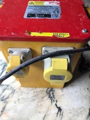 5 KVA STEPDOWN TRANSFORMER, 240v to 110v, BUILDER,JOINER, TRANNY, CONSTRUCTION22