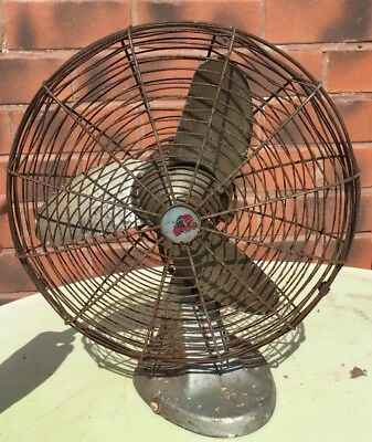 "Vintage G.E.C 10"" Fan Air-Stream Styling 50s Retro Chic"