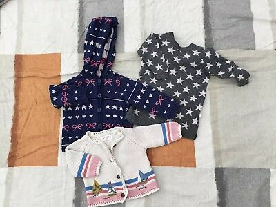 Baby Girl Knit Cardigans & Jumper size 00/ 3-6mths