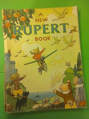 RUPERT ANNUAL 1945 ORIGINAL NOT PRICE-CLIPPED War economy paper Harrison & Sons
