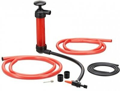 Relaxdays Oil Siphon, Manual Transfer Pump For Gasoline, Decanting Pump With 3