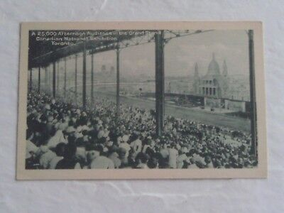 RARE 1910s POSTCARD CANADIAN NATIONAL EXHIBITION STADIUM GRAND STAND TORONTO
