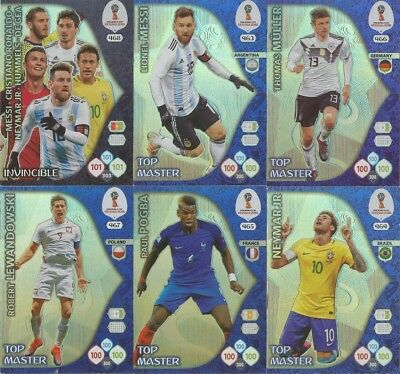Panini World Cup WM 2018 Top Player Invincible Icons Game Changer Double Trouble