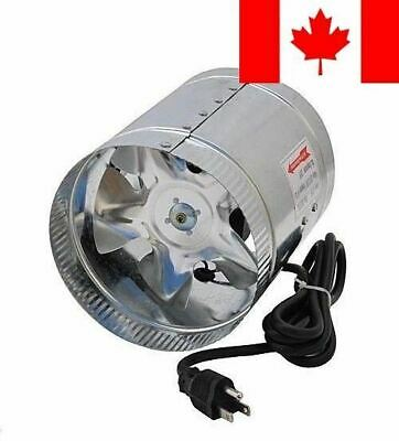 Hon&Guan 4 in. Corded Inline Duct Booster Fan Grow Room Ventilation