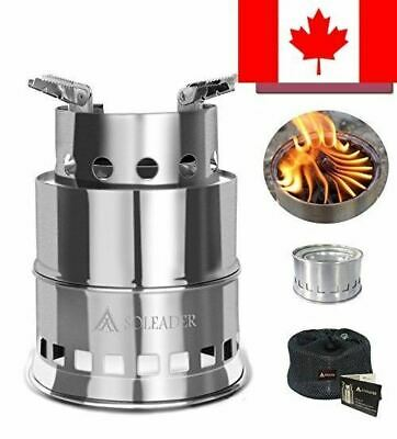 SOLEADER Portable Wood Burning Camp Stoves Compact Gasifier Wood Stove Bio St...
