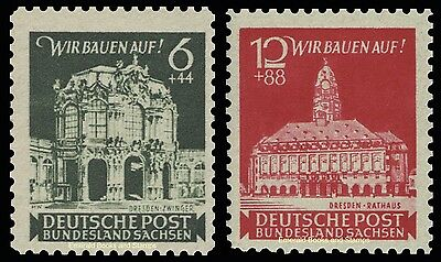 EBS Germany 1946 Soviet Zone - East Saxony - Dresden Rebuilds Michel 64-5 MNH**