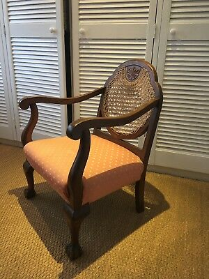 Victorian Begere chairs with cane back and nice upholstry