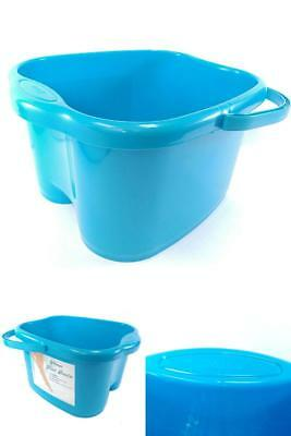 Blue Foot Basin for Foot Bath, Soak, or Detox Massage spa great for your legs